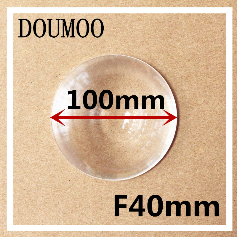kör 1db / tétel Átmérő 100 mm Fókusztávolság 40 mm Fresnel lencse DIY TV vetítővíz-kályha vastagsága 2MM Ingyenes szállítás