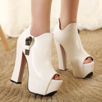 Pumps New Spring Summer Peep Toe Women Platform Sandals European Sexy High Heels Shoes Woman Party