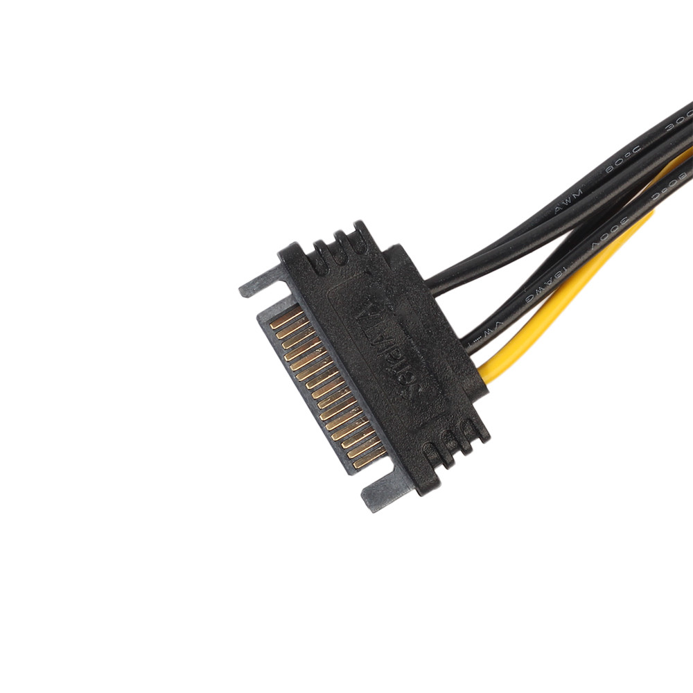 15Pin SATA Мощность к 6Pin PCIe pci-e PCI Express Кабель-адаптер для видео карты