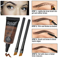Professional High Eye Brow Tint Makeup Set 2pcs Brow Brushes With 1pcs Pigment Brown Henna Eyebrows Color Tattoo Cream