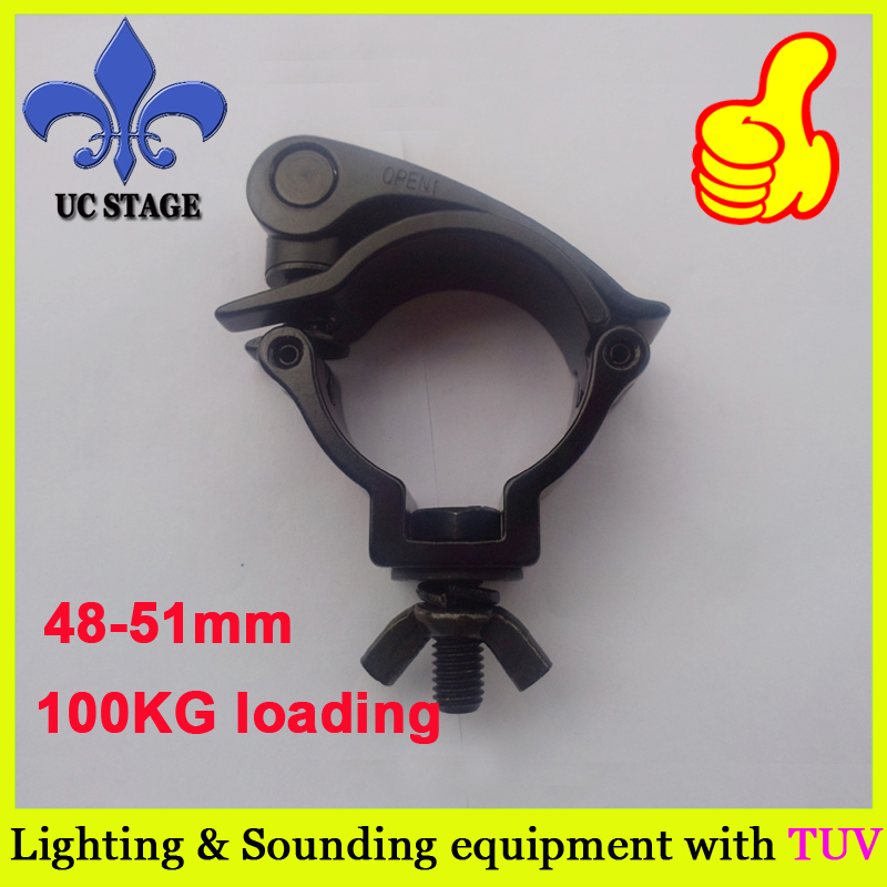 10pcs/lot,Stage light hook 100kg,aluminum truss standard With TUV Lighting Coupler clamp for stage truss Led lamp clamps 290mm aluminum stage truss structure event lighting spigot truss with black coated