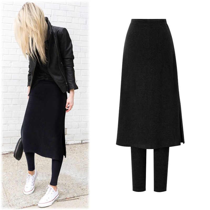 0925c1bdec2 ... M-6XL Plus Size High Waist Warm Winter Leggings Women Korean Fleece  Lined Thickening Fake ...