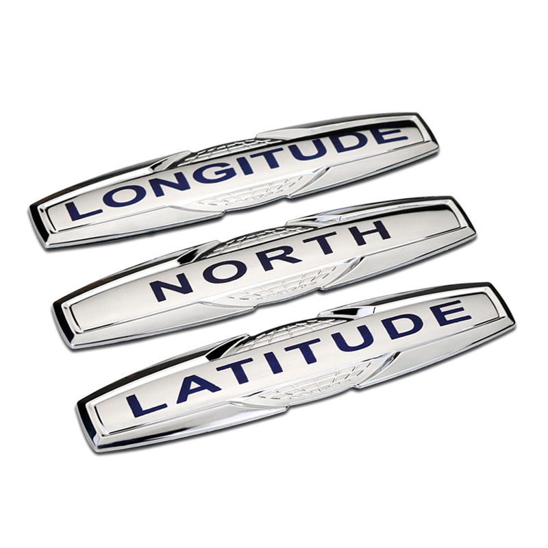 Car Sticker Emblem Badge For Jeep North Latitude Longitude ABS Tuning Auto Car Styling Accessories auto chrome camaro letters for 1968 1969 camaro emblem badge sticker