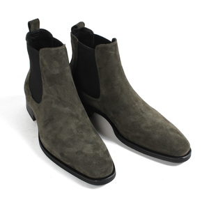 Image 2 - VIKEDUO bottines Chelsea pour hommes, classiques, faites à la main, à bout carré, chaussures pour bureau, mariage, automne, 2020