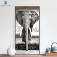 Frameless Elephant Animals DIY Painting By Number Kits Paint On Canvas Acrylic Coloring Painting By Numbers