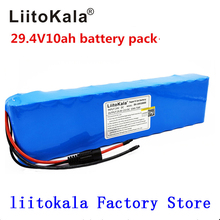 Литиевая батарея Liitokala, 24 В постоянного тока, 10 Ач, 18650, аккумулятор 29,4 в, электрический велосипед, мопед/Электрический/фотоаккумулятор