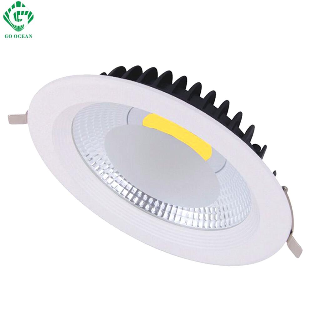 LED Downlight 7W 10W 15W 20W 30W Spot light Lamps Kitchen Bathroom Showcase Ceiling Lamps Recessed