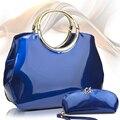 Сумки новая яркая поверхность блестящей лакированной кожи мешок люкс роковой мульти-марка Celebre дизайнер высокое качество женщины сумка