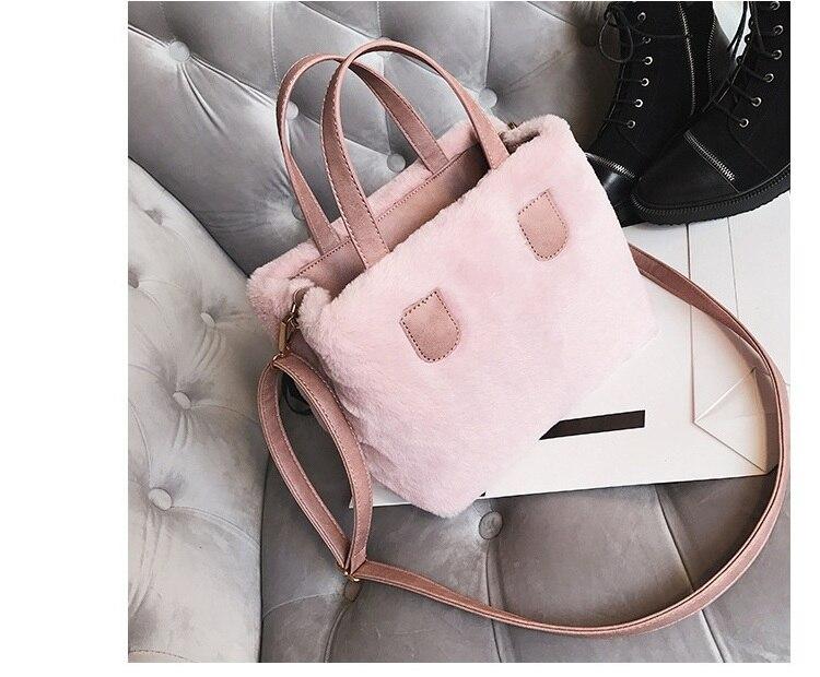 6a90067153 Winter Women Faux Fur PU Leather Shoulder Bags Top-Handle Bag Female  Fashion Hairy Designer Handbag Flap Bag Plush Crossbody Bag. 1 2 3 4 5 6 7  8 9 10 11 12 ...