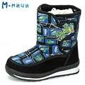 MMNUN 2017 Moda Crianças Botas Botas de Inverno para Meninos Meninos Quentes Botas de Inverno Sapatas Dos Miúdos das Crianças Sapatos