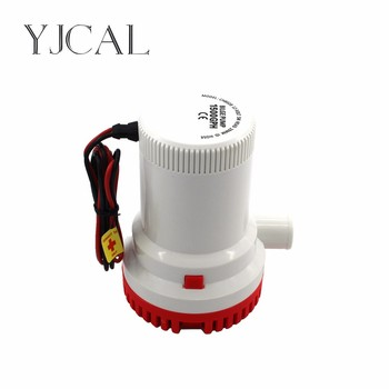 Bilge Pump 1500GPH DC 12/24V Electric Water Pump For Aquario Submersible Seaplane Motor Homes Houseboat Boats submersible electric water pump 1500gph dc 12v 24v bilge pump and level controller float switch combination for boats