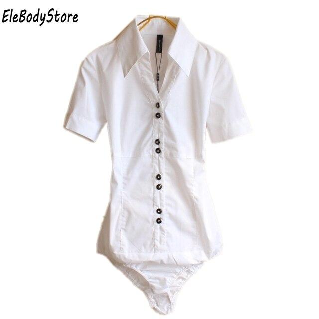 4f18d5721 2019 Blouse Women Body Shirt Blusas Womens Blouses Shirts Summer Tops  Elegant Plus Size Short Sleeve Office White Black Clothes