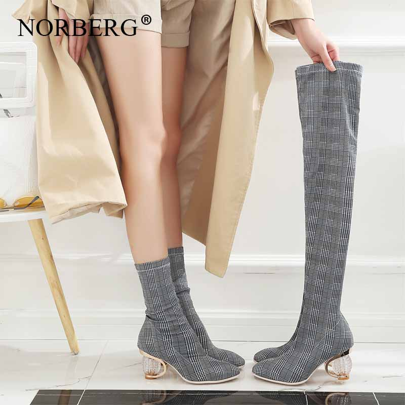 Fashion Sexy Women Over The Knee High Boots Woman Tight High Dancing BootsHigh Heels Autumn Winter Long Party Shoes in Over the Knee Boots from Shoes