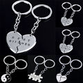 2Pc Set Broken Heart Best Bitches Best Friends keychain Mother Daughter Yin Yang Puzzle Oil Drip Pendant Keyring Key Chain Gifts