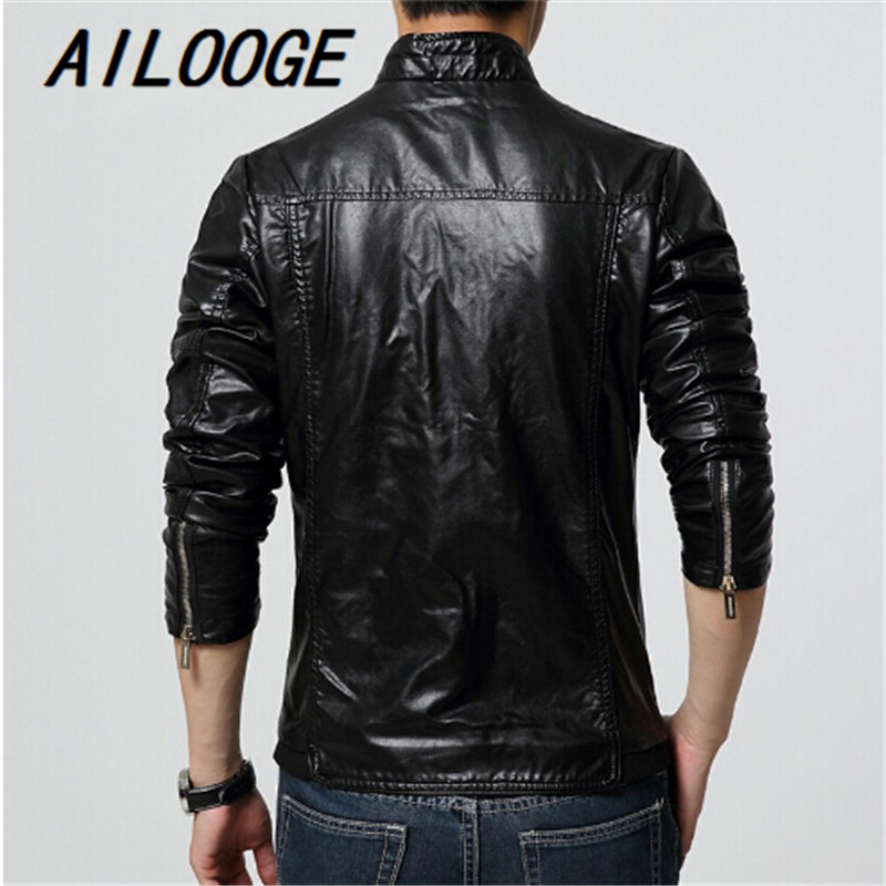 Aliexpress.com : Buy 2016 Autumn Winter Faux Leather Red Men's ...