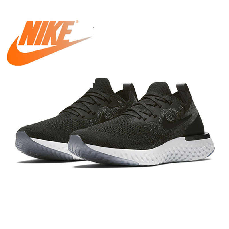 Original Authentic Nike Epic React Flyknit Mens Running Shoes Outdoor Sports Shoes Jogging Comfortable High Quality AQ0067-001Original Authentic Nike Epic React Flyknit Mens Running Shoes Outdoor Sports Shoes Jogging Comfortable High Quality AQ0067-001