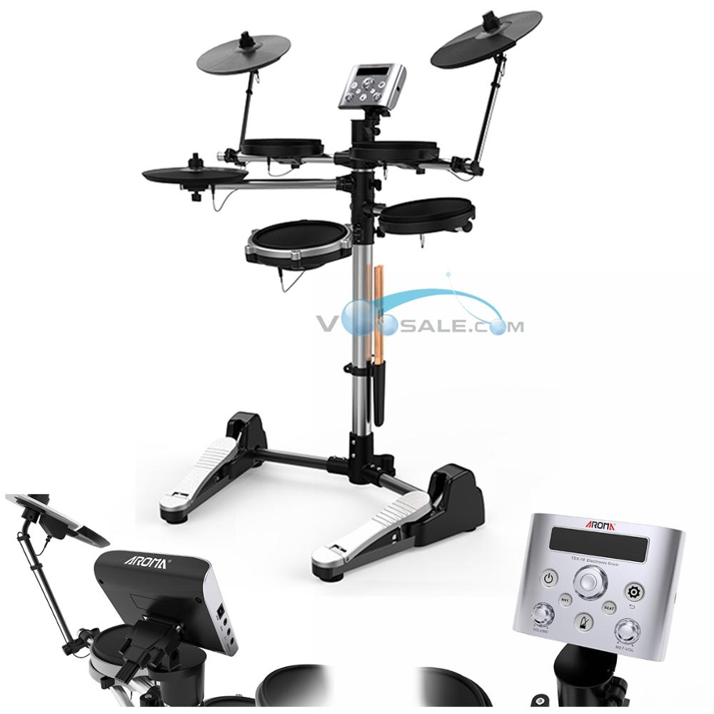 TDX-10 Electronic Drums Kit 12 Drum Kits Sounds Metronome Inside Easy And High Quality Recording & Replay For Training/Teaching