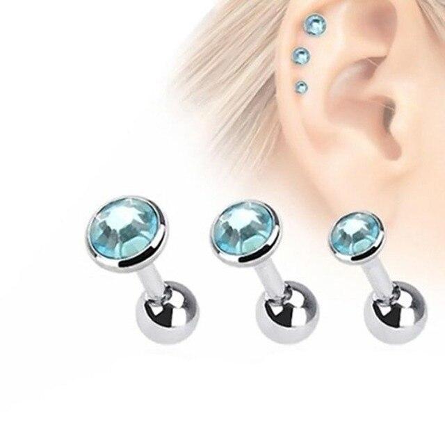 3pcs Lot Fashion Ear Piercing Lip Body Helix Tragus Lobe Barbell Bar Earrings Ear Studs Piercing.jpg 640x640 - 3pcs/Lot Fashion Ear Piercing Lip Body Helix Tragus Lobe Barbell Bar Earrings Ear Studs Piercing 3mm&4mm&5mm C557 @M23