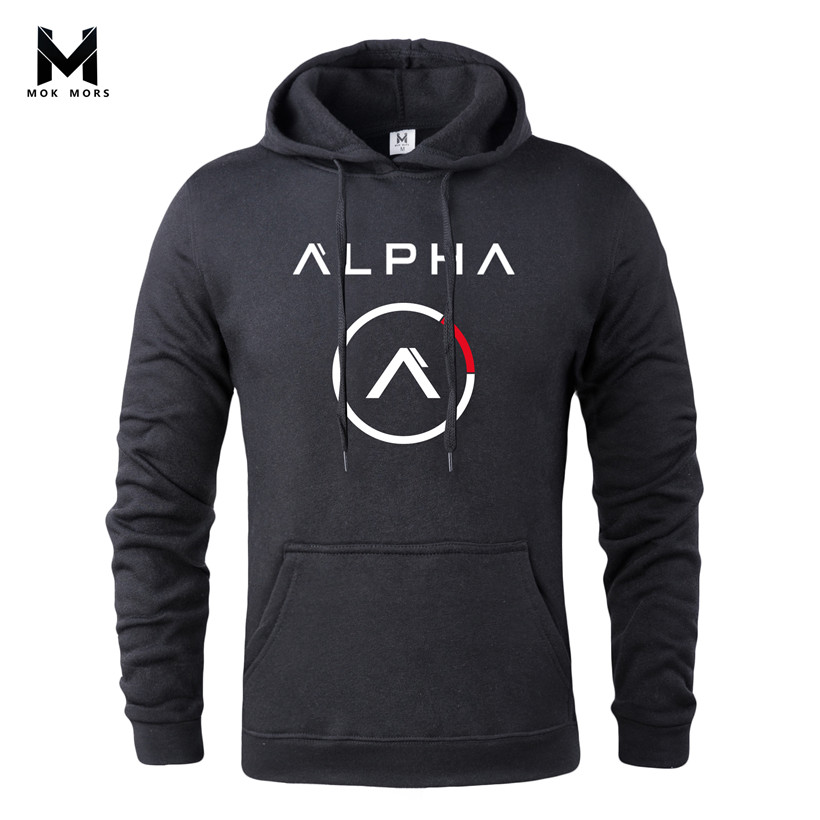 Male Hoodies Sportswear Clothing Pullover Gyms-Printed Hip-Hop MOK Casual Mors-M New-Brand