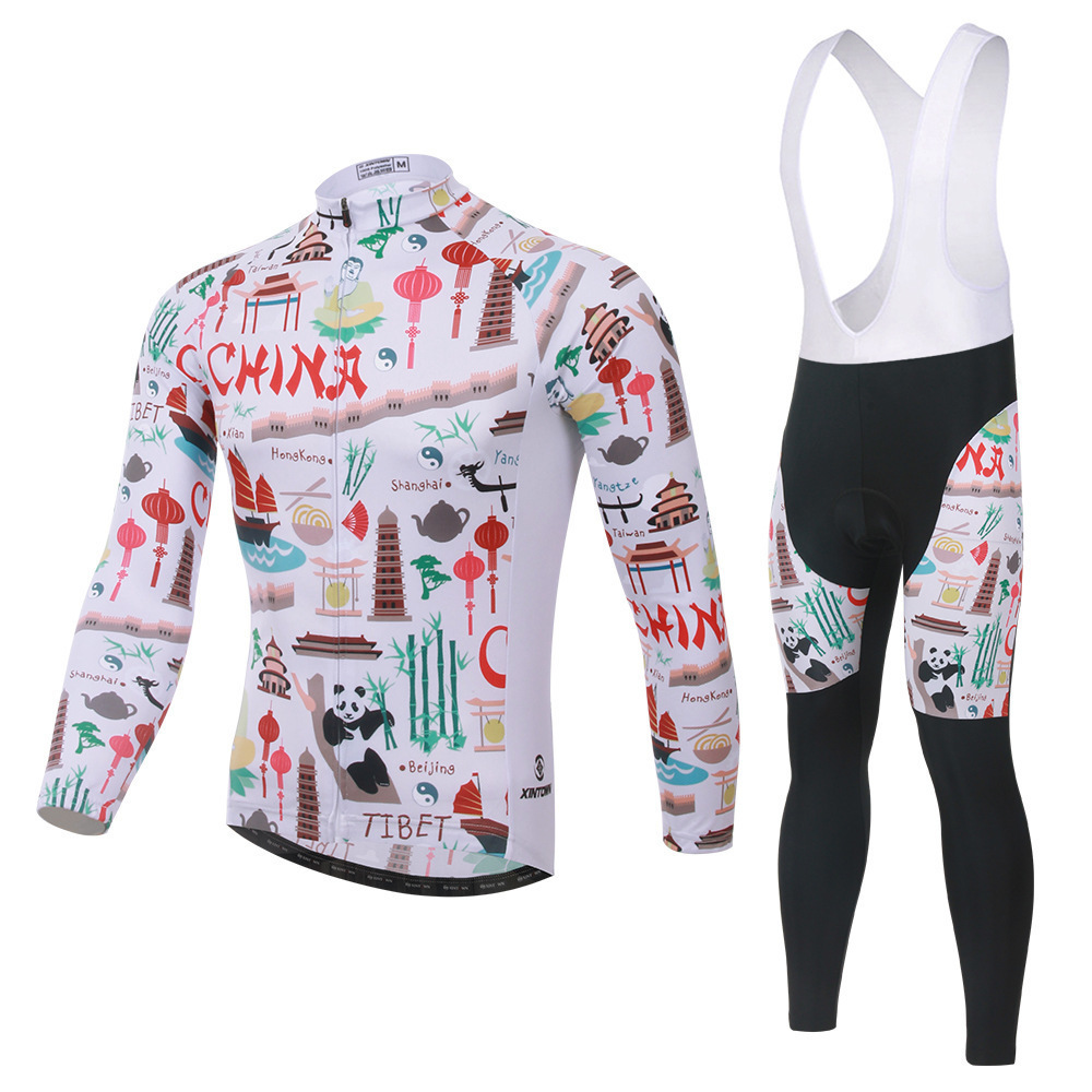 BOODUN Element National Riding Suit Straps Long Sleeve Suit Bicycle Serve Catch Down Windbreak Keep Warm Function Underwear