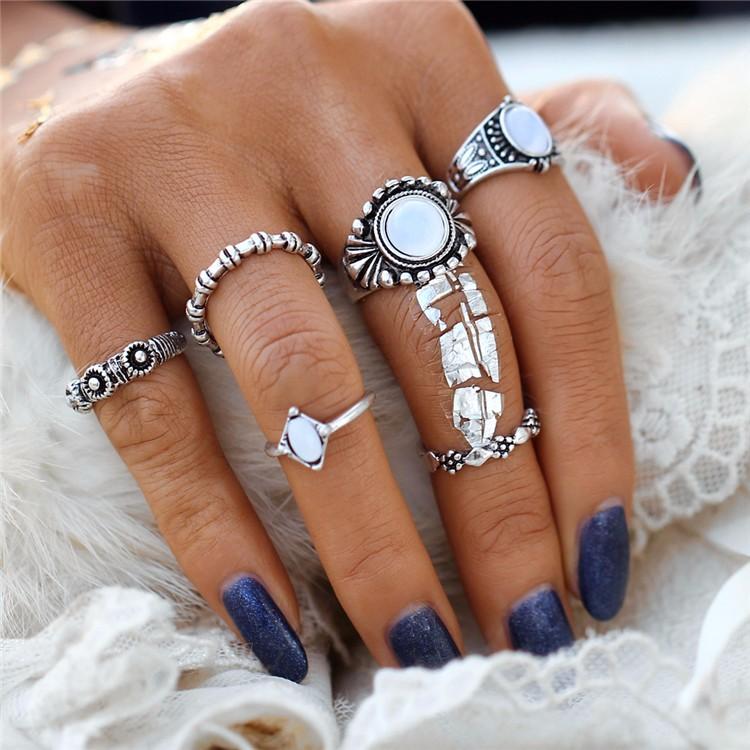 HTB163QwOFXXXXc_aXXXq6xXFXXXr 6-Pieces Boho Ethnic Vintage Turquoise/Opal Knuckle Ring Set For Women - 2 Styles