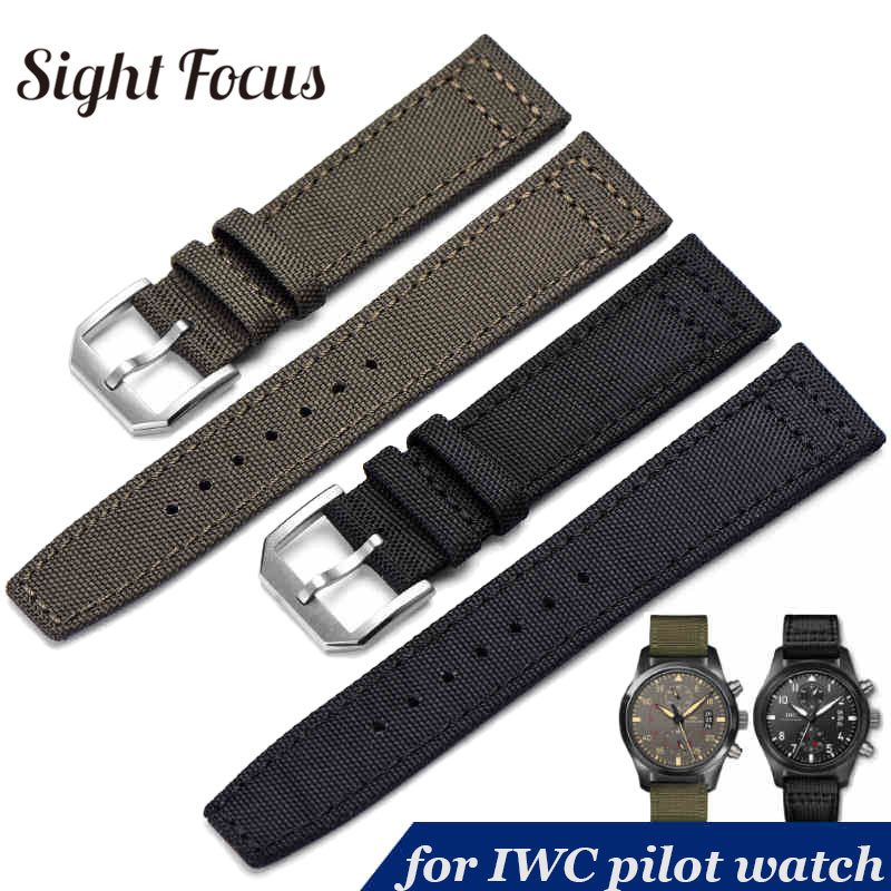 20mm 21mm 22mm Nylon Canvas Fabric Watch Band for IWC Pilot Spitfire Timezone Top Gun Strap Green Black Belts Wristwatch Straps20mm 21mm 22mm Nylon Canvas Fabric Watch Band for IWC Pilot Spitfire Timezone Top Gun Strap Green Black Belts Wristwatch Straps