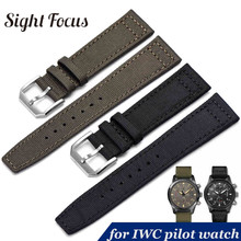 20mm 21mm 22mm Nylon Canvas Fabric Watch Band for IWC Pilot