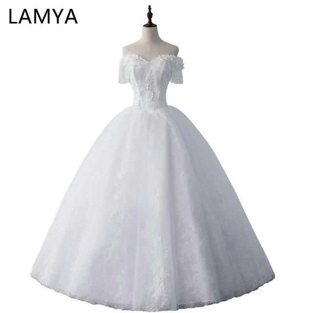 LAMYA Princess Lace Wedding Dresses Vintage Plus Size Bridal Gowns ...