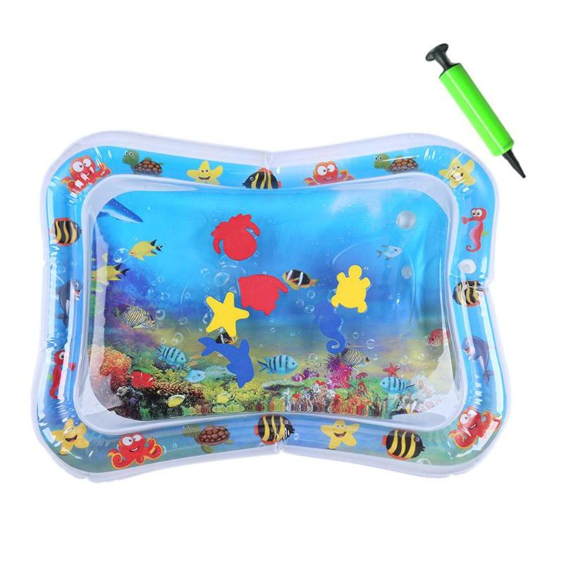 HTB163R6SzDpK1RjSZFrq6y78VXaP Baby Inflatable Water Play Mat Infant Gym Playmat Kids Thicken PVC Creative Dual Use Patted Pad Toy Toddler Funny Cushion Toy