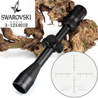 Tactical SWAROVSKl 3 12X40 IR Optical Sight Rifle Scope Red Illuminated Glass Etched Reticle Hunting Trail Shooting Riflescope