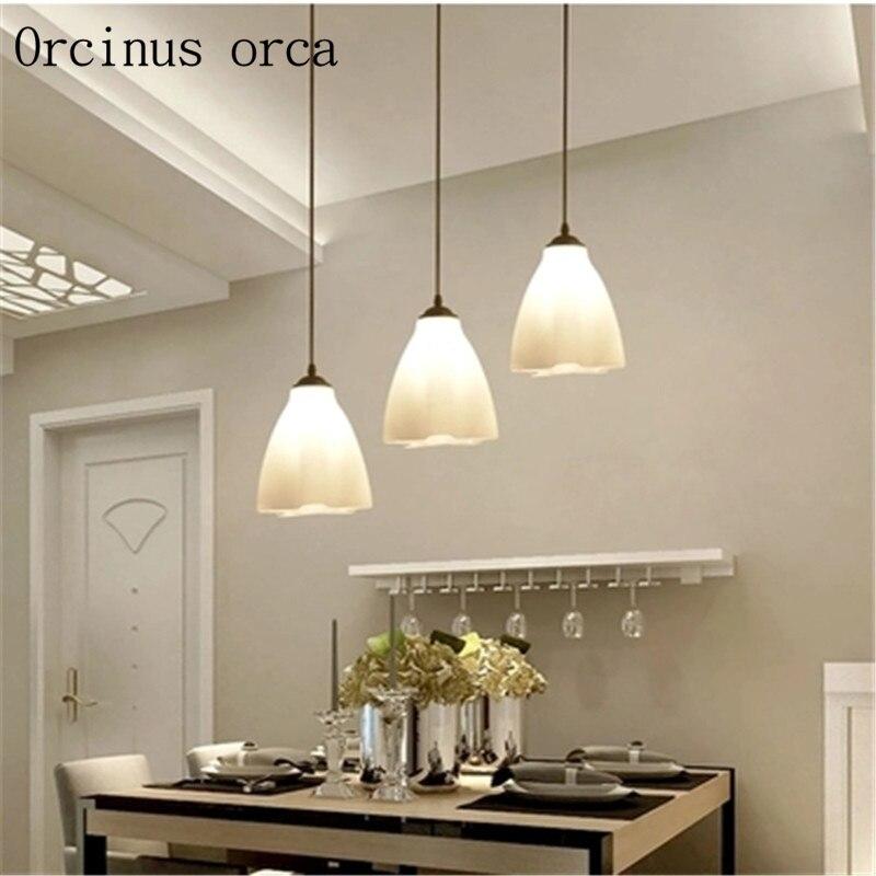 US $55.68 13% OFF|Restaurant kronleuchter moderne minimalistischen drei  kreative esstisch lampe mode persönlichkeit esszimmer LED wohnzimmer  lampen-in ...