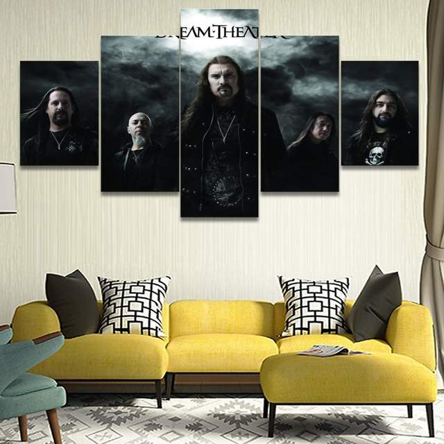Awesome Placeholder Canvas Print Painting 5 Pieces Music Dream Theater Wall Art  Poster Home Decor Living Room Modern