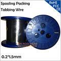 Упаковка для подделки кабеля 1 5 мм x 0 2 мм  пайка солнечных элементов  пайка солнечных элементов 0 2*1 5 мм  4 кг/шт.