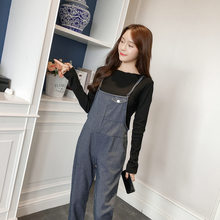 Summer Fashion Jumpsuits for Women 2018 High Waist Denim Romper Ankle -  Length Pants Jean Overalls Blue 21ae6d123db2