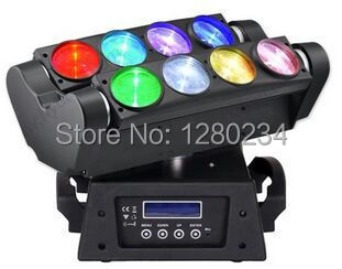 Professional disco lighting 8*10W 4in1 rgbw super spider led moving head beam light 8 eyes led dmx dj equipment