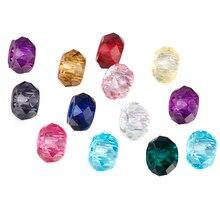 HOMOD Mix Beads Fits Pandora 20pcs Resin bead big hole fit Brand charm Bracelets Necklace DIY Jewelry Making
