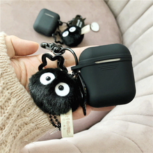 Cute Coal ball decorative Silicone Case for Apple Airpods Bluetooth Earphone Accessories Airpods Headphone Protective Cover цена и фото