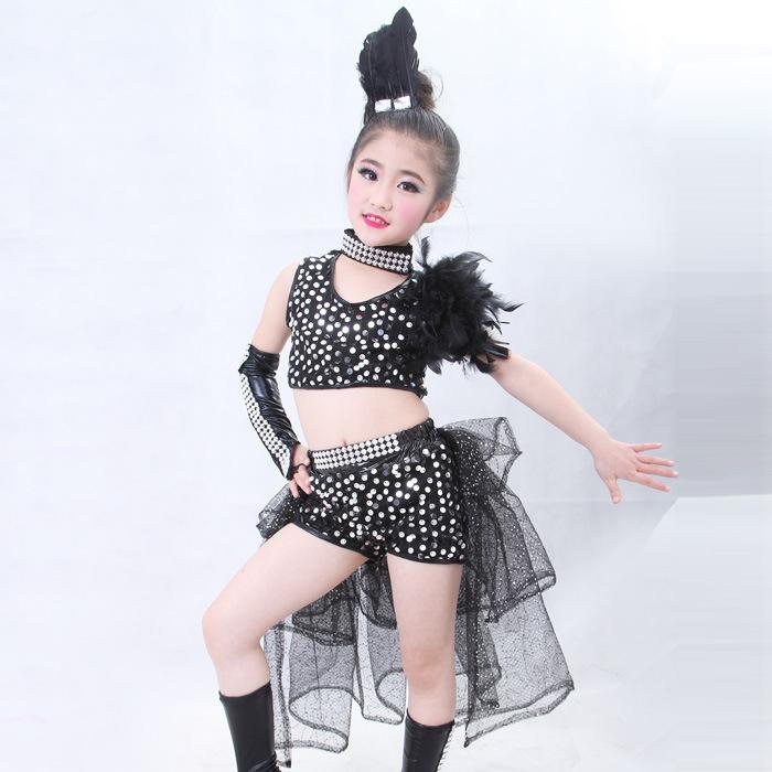 a5fb8259a372 Children  Day Sequin Jazz Dance Wear Hip Hop Dance Costumes Kids ...