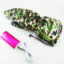 Tela Flexible de Camuflaje Al Aire Libre más nueva Electrónica Activitis batería/banco de la Energía caliente guantes Para Paquete de Baterías Externas