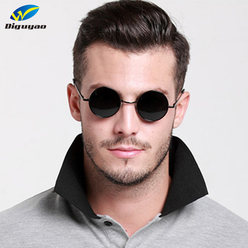 Fashion sunglass Round Sunglasses Women Men Classic Brand Designer Metal Frame Ladies Clear Lens Eye Glasses For Female