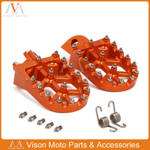 цена на Billet Foot Pegs Rests Pedals For KTM EXC SX SXF XC XCW XCF EXCF EXCW XCFW 65 85 125 200 250 300 350 400 450 525 530 MX SIX DAYS