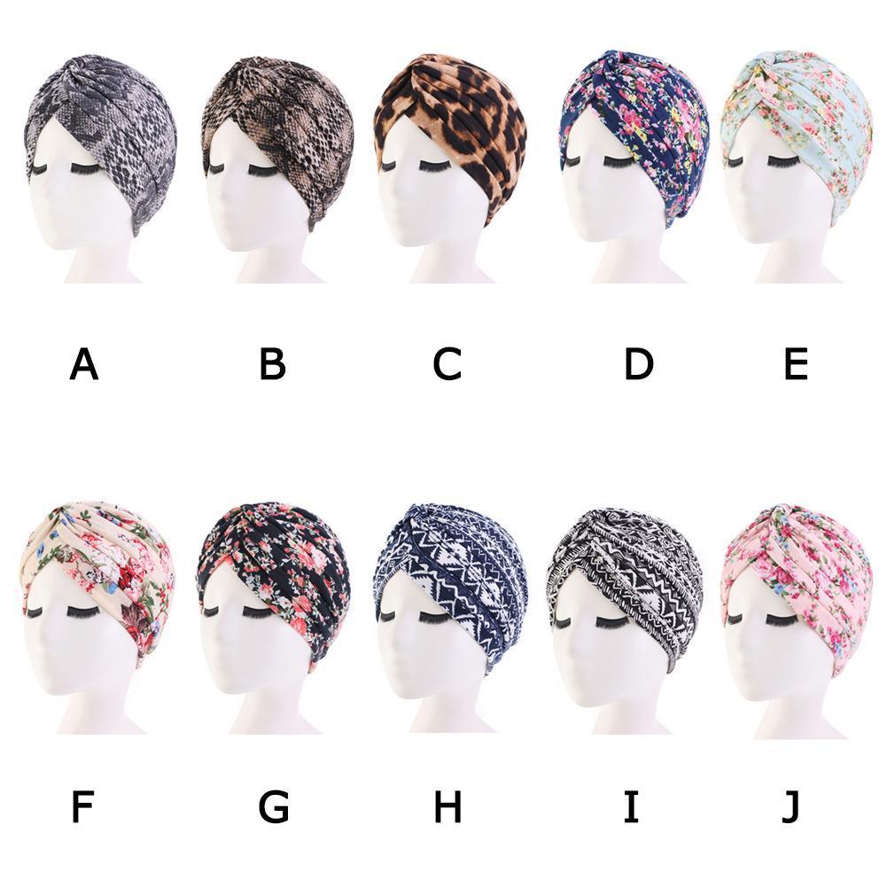 Fashion Women Summer Chiffon Ruffle Cancer Chemo Hat Beanie Scarf Islamic Turban Head Wrap Cap Bandana Headwear Muslim Hat