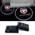 2x Car Door Ghost Shadow Light Logo Projector For Dodge Caravan Ram1500 Durango Neon Journey Caliber Charger Challenger Emblem