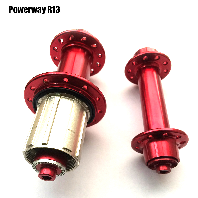 Ultralight POWERWAY R13 Carbon Road Bike Racer Road Bicycle Aluminum red Hub for SHIMAN0 or Campy