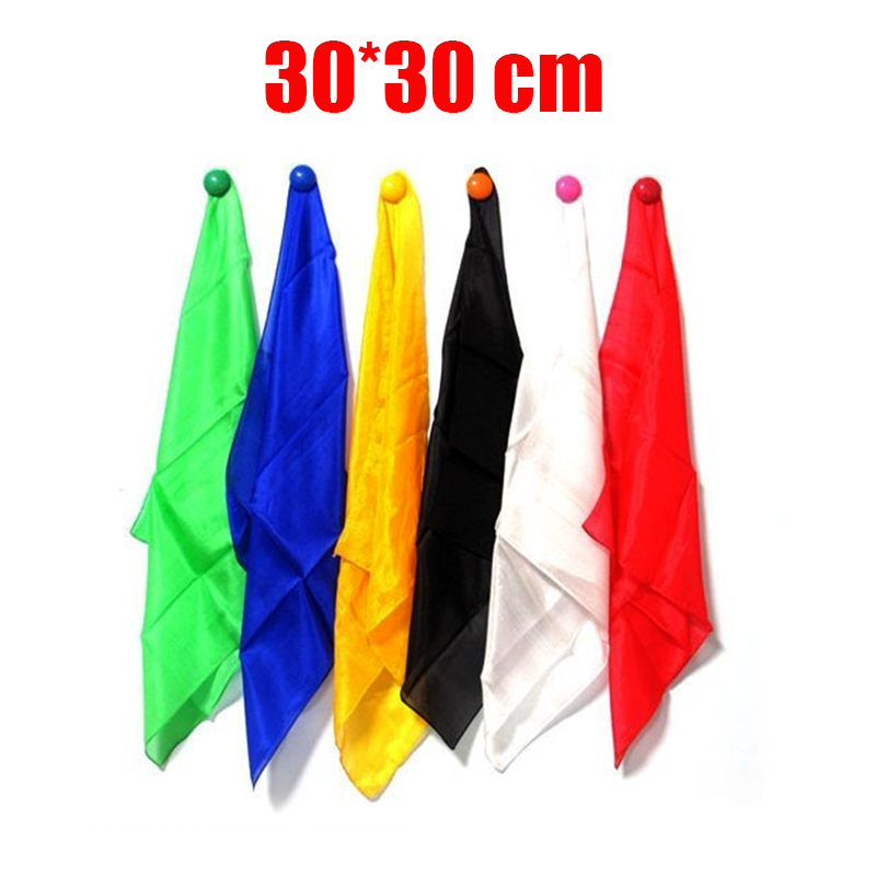 30*30cm Colorful Silk Scarf Magic Tricks Learning & education Magic silk for close up magic prop 82095 four color silk scarf excellent stage magic prop