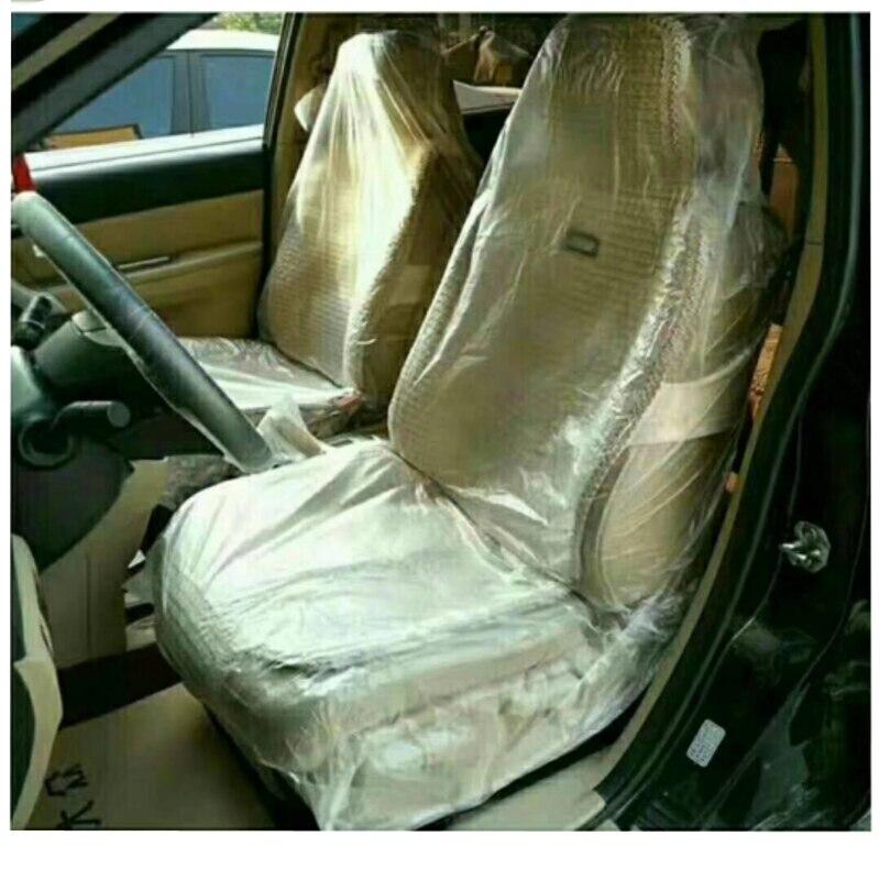 10pcs Disposable Car Seat Protection Plastic Vehicle Maintenance Waterproof Seat Covers Prevent Dust Dirt|  - title=