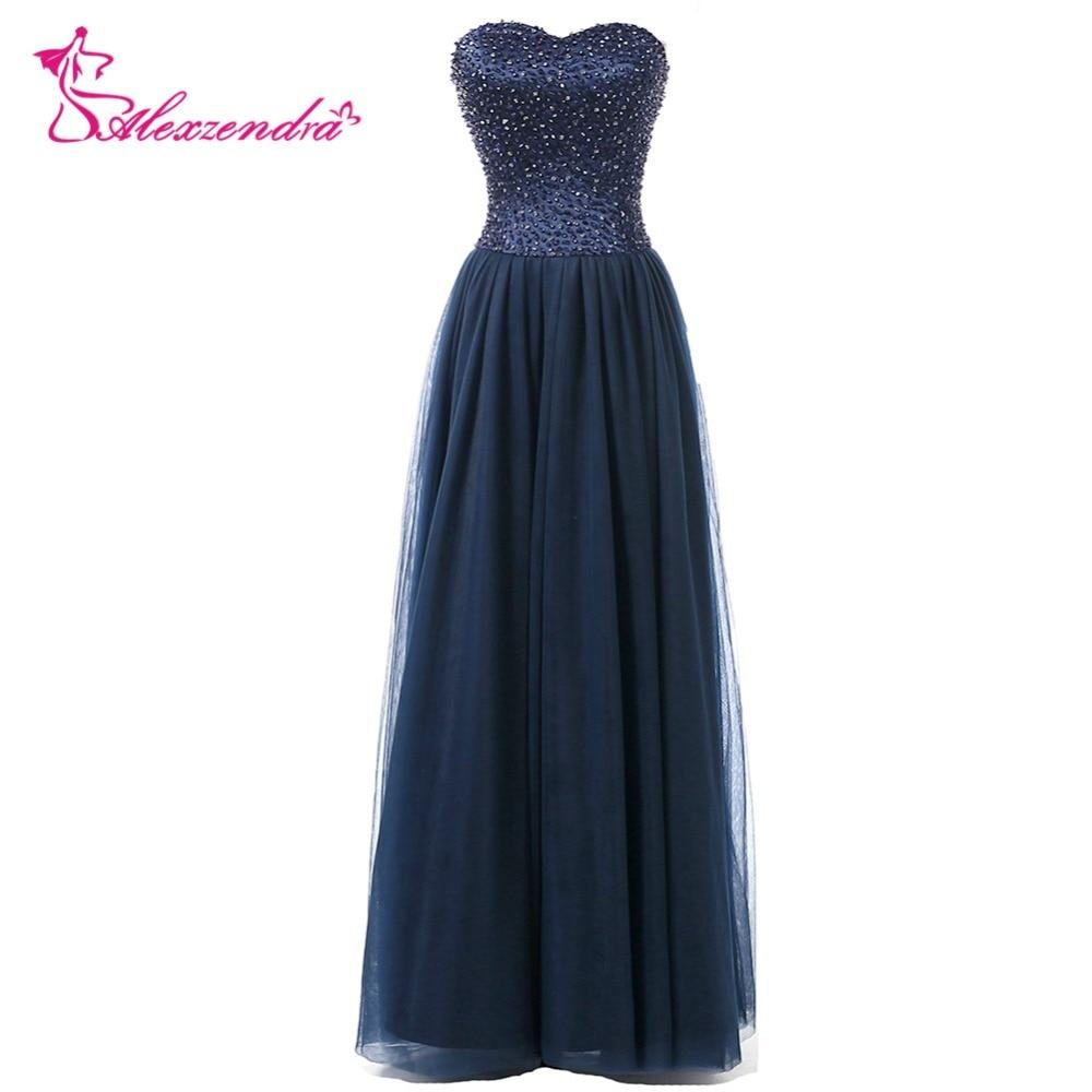 Alexzendra longues robes de bal en Tulle avec bretelles simples col en V robe de soirée robes de soirée