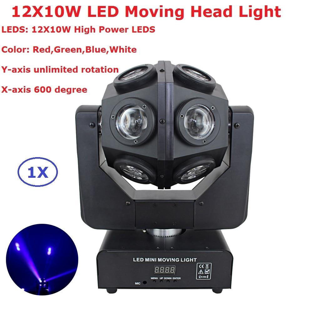 1 XLot Yeni LED Inno Cep Işın Hareketli kafa lambaları 12X10 W RGBW 4 Renk LED Hareketli Kafa Sahne ışıkları Gösterisi Odası Etkisi