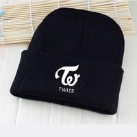 Twice Wool Cap KPOP 2018 New Men Women Korean Version Cotton Black Letter Printing Hat Lovers