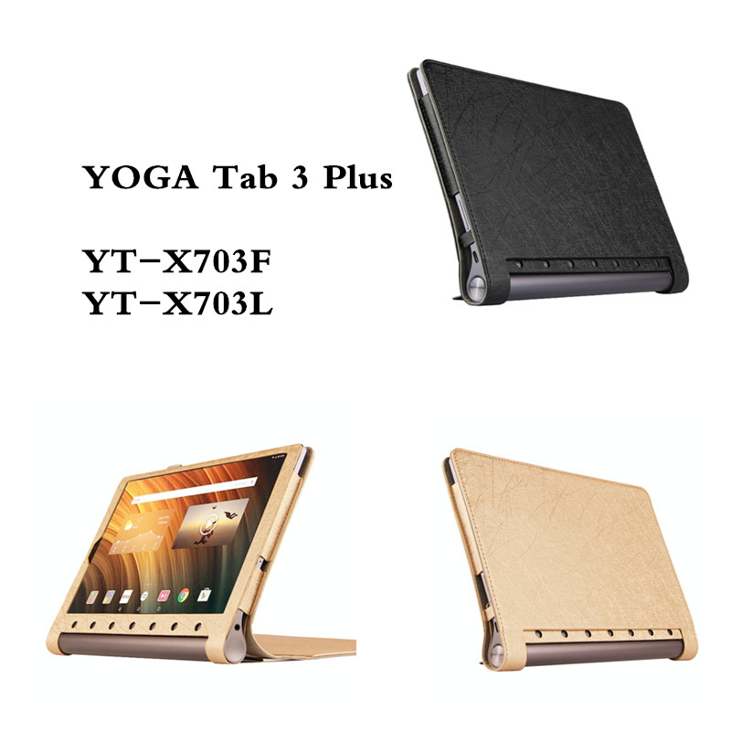 SD PU Leather  Protector Cover Case For Lenovo Yoga Tab 3 Plus YT-X703F YT-X703L 10.1'' Tablet PC  Luxury Cases 3 in 1 new ultra thin smart pu leather case cover for 2015 lenovo yoga tab 3 850f 8 0 tablet pc stylus screen film